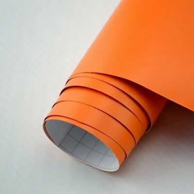 Matt Folie Orange Autofolie 12m x 1,52 meter mit Luftkanäle Car Wrap