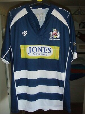 Bristol Rugby Union Shirt - LARGE Adult - Excellent - LOOK - B44