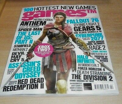 Games TM magazine #202 2018 Hottest New Games, Xbox Two? Fallout 76, Cyberpunk