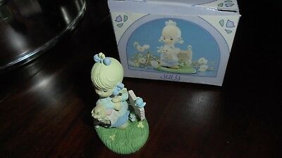 """Vintage 1989 Precious Moments Miniature Monthly Figurine...""""July"""""""