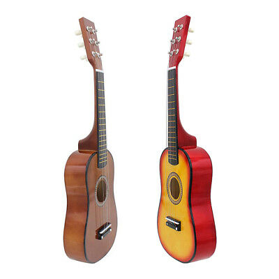 23 Inch 6 String Acoustic Guitar with Pick Strings for Kids Educational Toys