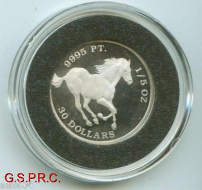 2008 TUVALU HORSE 1/5 Oz. PLATINUM BULLION BEAUTIFUL !!