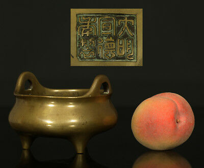 A BEAUTIFUL antique CHINESE BRONZE CENSER 大明宣德年製  XUANDE 19TH CENTURY
