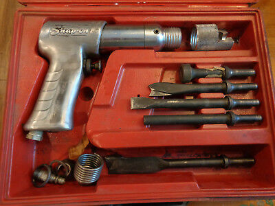 SNAP-ON PH-50C air hammer chisel with case, 5 bits Snapon