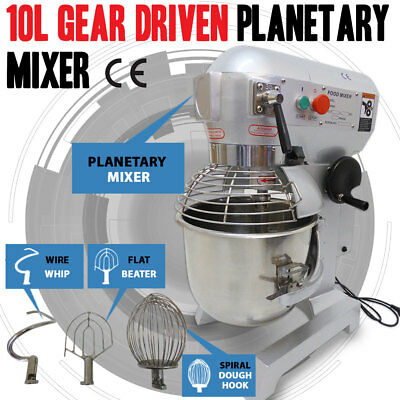 NEW 10 Litre 3-Speed Food Mixer /Dough Mixer /Planetary Mixer S/S Bowl B10B