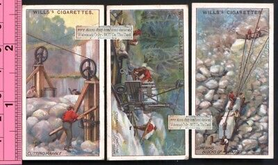 Lot of 3 Marble Mining Carrara Italy Quarry 100+ Y/O Trade Ad Cards