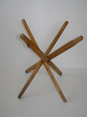 Very Unusual Antique / Vintage Folding Wooden Portable Plant/Table Stand Legs