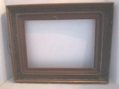"""Vintage antique wood frame with gold gesso embossed scrolls 19.5"""" x 16"""""""