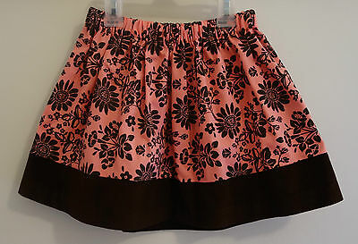 New In Package Kelly's Kids Pink /Brown Juilette Floral Lily Skirt ~ Girl's 3-4
