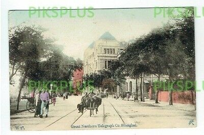 Old Chinese Postcard Great Northern Telegraph Co. Shanghai China Vintage C.1910