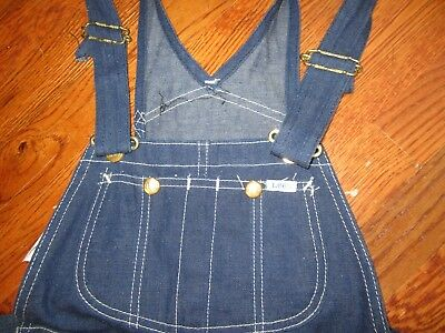 UNWORN Vtg LEE Farmers Carpenters DUNGAREES OVERALLS 24-32 MADE IN USA Utility
