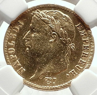 1814 FRANCE Napoleon Bonaparte 20 Francs Antique French Gold Coin NGC i70820