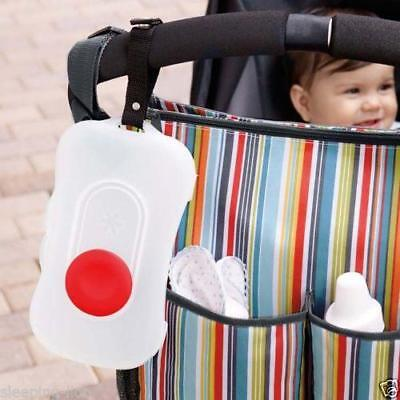 Portable Outdoor Stroller Baby Wipe Case Box Wet Wipes Dispenser Tissue Box CB