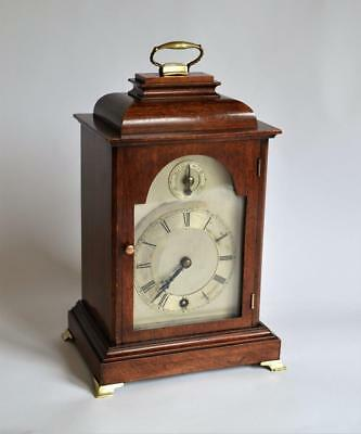 GOOD ANTIQUE 19thC WINTERHALDER & HOFMEIER MAHOGANY CARRIAGE-STYLE MANTLE CLOCK