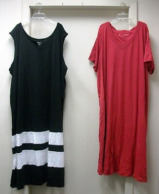 New Lot Of 2 Woman Within T-Shirt Lounger Sleepshirt Day Dress Size 5X Muumuu