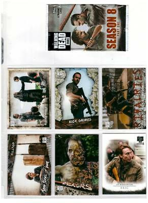 2018 The Walking Dead Season 8 Trading Cards Master Set Base + 5 CHASE 144 Total