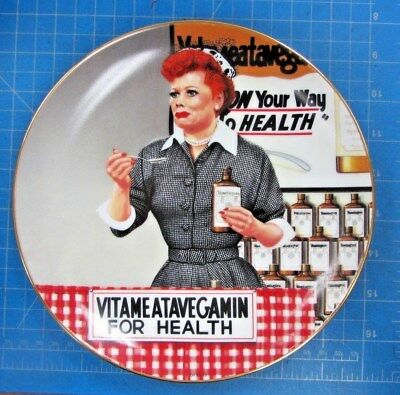 "The Hamilton Collection ""it's Just Like Candy"" I Love Lucy Plate Collection"