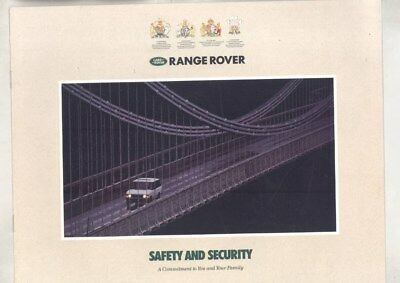 1992 Range Rover Safety & Security Features Brochure wz4740