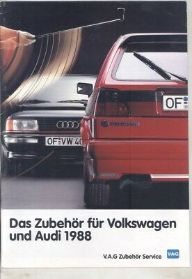 1988 Audi & Volkswagen Accessories Brochure German wz4756