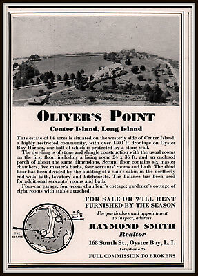 1936 Ad Oliver's Point Center Island Long Island For Sale Rent Oyster Bay Photo