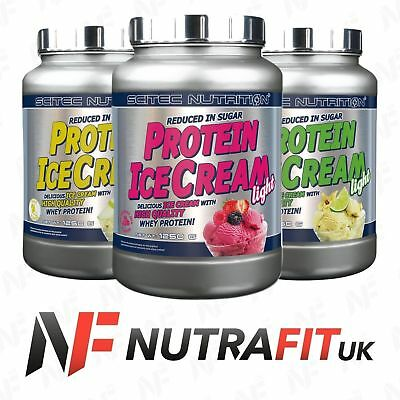 SCITEC NUTRITION PROTEIN ICE CREAM LIGHT whey protein reduced sugar WPC
