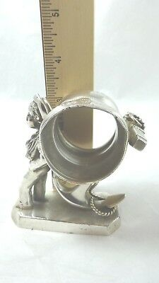 Napkin Ring Holder Figural Boy with Anchor (12) Simpson Hall Miller