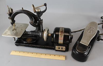 Antique Willcox Gibbs Electric Sewing Machine Cast Iron W/ Pedal No Reserve