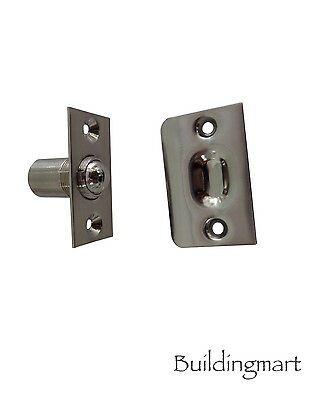 Adjustable ball roller latch / door holder (full brass)