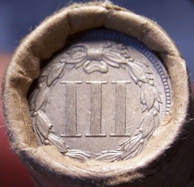 3 Cent Nickel/1898 Indian Head Cent Great End Coins Antique Old Roll Shown #9210