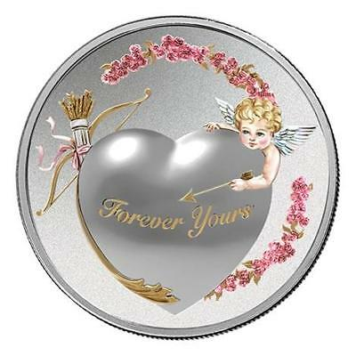 Niue 2016 2$ Forever Yours Proof Like 1 Oz Silver Coin with High Relief