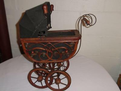 Vintage Baby Doll Carriage/stroller-Metal-Wooden-Wicker-Photo Prop-Philippines