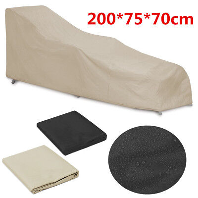 200*75*70cm Waterproof Chaise Lounge Patio Furniture Cover Outdoor Protection