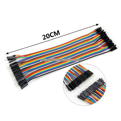 40PCS 20CM Dupont wire 40pcs Cables Line Jumper Connector Male to Male 1p-pin