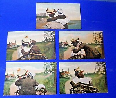 Vintage Early 20th Century Millar & Lang Post Cards - Set of Five in Sequence