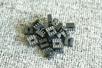 20Pcs 8Pin Double In-Line Integrated Circuit Ic Socket Solder Type