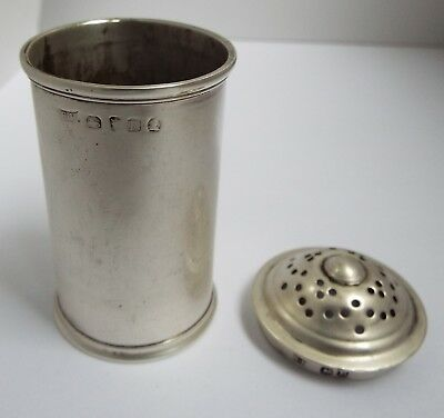 Handsome Large Heavy English Antique Georgian 1812 Solid Sterling Silver Pepper