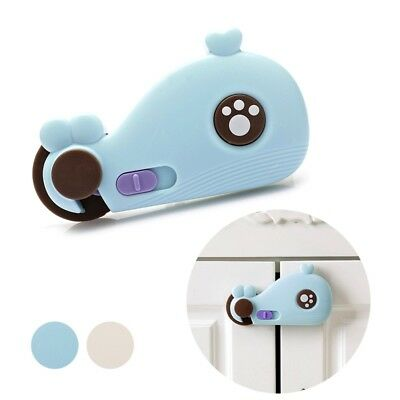 1PC Safety Locks Kids Baby Protector Drawer Latches Toilet Mini Whale Design