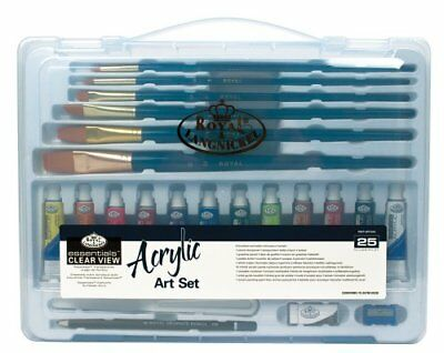 Royal & Langnickel Essentials Clear View Large Case Acrylic Art Set