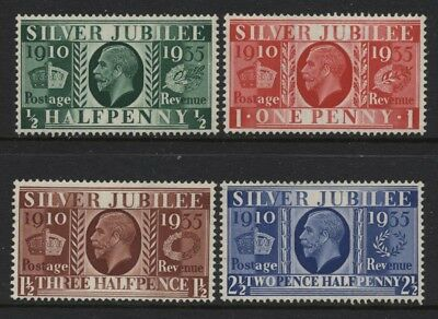 1935 ½d-2½d SILVER JUBILEE UNMOUNTED MINT SET OF FOUR SG 453-6
