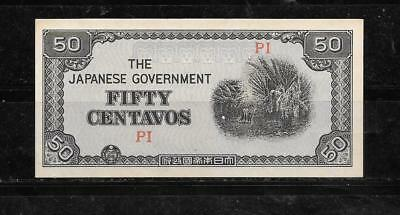 PHILIPPINES #105b 1942 VF CIRCULATED 50 CENTAVO BANKNOTE PAPER MONEY CURRENCY