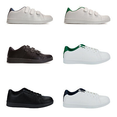 Mens Penn Court Lace Up Trainers In Black In Various Sizes