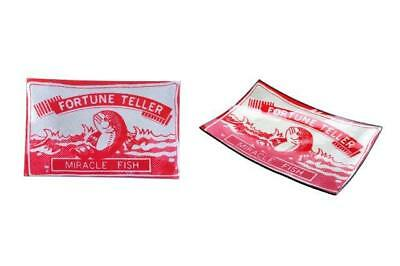 Fortune Teller Fish Dish Glass plate/tray shaped pack of fish magic