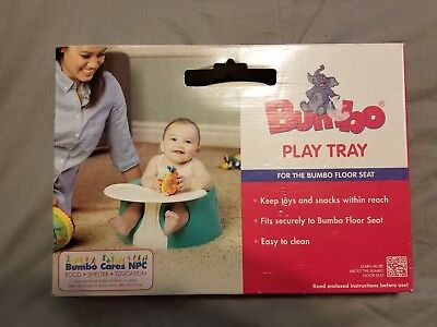 White BUMBO PLAY TRAY for floor Seat Chair Safety Child Kids Baby