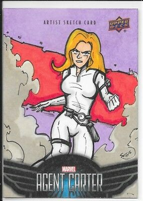 UD Marvel Agent Carter Agent 13 Sharon Carter Sketch by Omar Soto 1/1