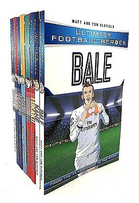Ultimate Football Heroes Series 1 Collection 8 Books Set Pack Messi, Ronaldo...