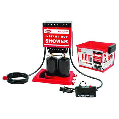 Zodi Portable Battery Powered Outdoor Hot Tap HP Shower w/ 4 Gallon Storage Case