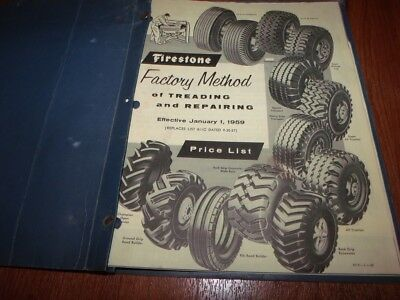 Vintage 1959 FIRESTONE FACTORY METHOD OF TREADING & REPAIR Catalog Price List