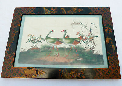 Antique Chinese Gouache / Watercolour Painting on Silk NO RESERVE