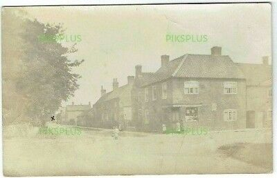 Old Postcard Orston Post Office Nottinghamshire Real Photo Vintage Used 1911