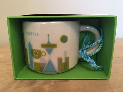 STARBUCKS SEATTLE YOU ARE HERE ORNAMENT 2oz - NIB / NWT
